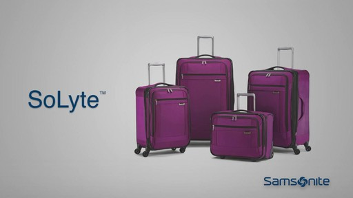 Shop Samsonite SoLyte luggage on eBags.com - image 10 from the video