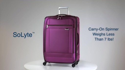 Shop Samsonite SoLyte luggage on eBags.com - image 2 from the video