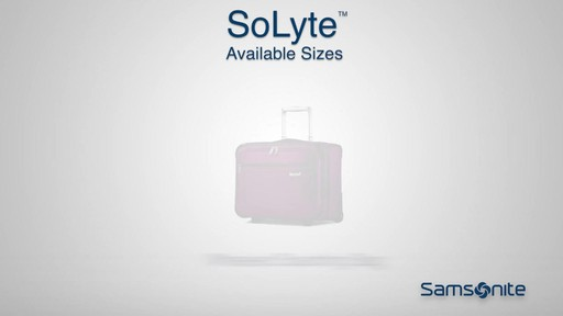 Shop Samsonite SoLyte luggage on eBags.com - image 8 from the video