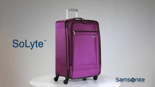Shop Samsonite SoLyte luggage on eBags.com - image 9 from the video