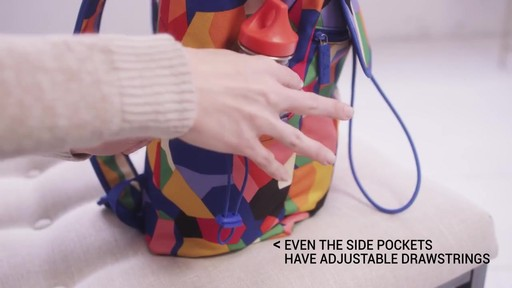 Vera Bradley Lighten Up Drawstring Backpack - image 7 from the video