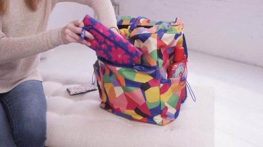 Vera Bradley Lighten Up Drawstring Backpack - image 8 from the video