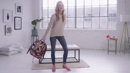 Vera Bradley Lighten Up Drawstring Backpack - image 9 from the video