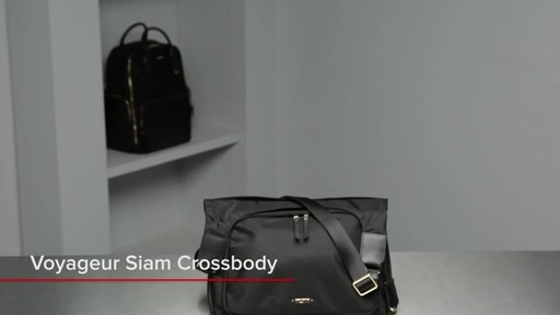 Tumi Voyageur Siam Crossbody - image 1 from the video