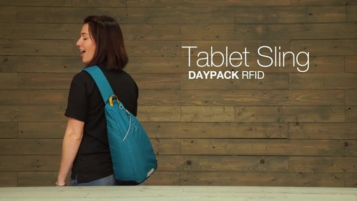 Eagle Creek Tablet Sling Daypack RFID - image 1 from the video