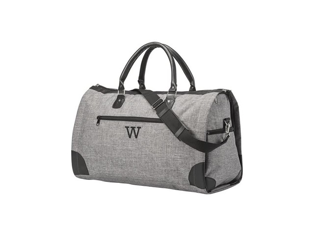 Cathy's Concepts Monogram Convertible Garment/Duffel Bag - image 1 from the video