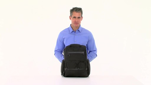 Tumi Alpha 2 Compact Laptop Brief Pack & Reg. - eBags.com - image 10 from the video