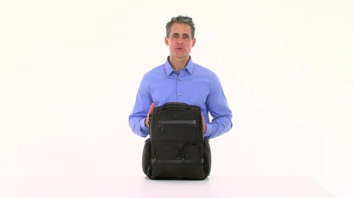 Tumi Alpha 2 Compact Laptop Brief Pack & Reg. - eBags.com - image 2 from the video