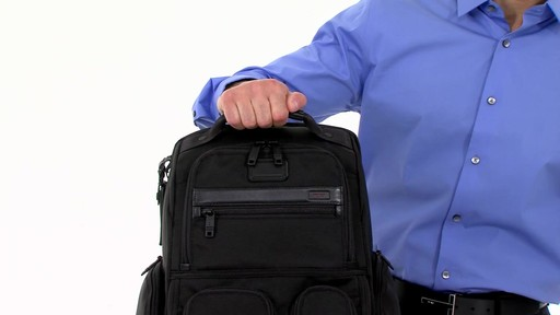 Tumi Alpha 2 Compact Laptop Brief Pack & Reg. - eBags.com - image 3 from the video