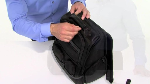 Tumi Alpha 2 Compact Laptop Brief Pack & Reg. - eBags.com - image 4 from the video