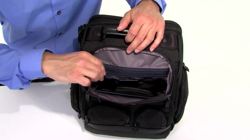 Tumi Alpha 2 Compact Laptop Brief Pack & Reg. - eBags.com - image 5 from the video