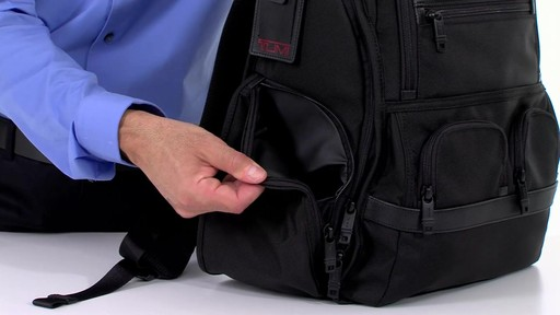 Tumi Alpha 2 Compact Laptop Brief Pack & Reg. - eBags.com - image 6 from the video