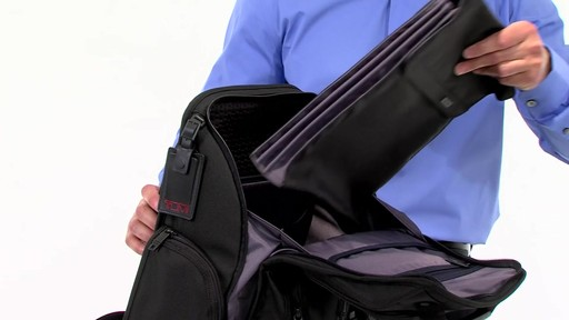 Tumi Alpha 2 Compact Laptop Brief Pack & Reg. - eBags.com - image 7 from the video