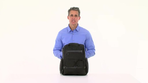 Tumi Alpha 2 Compact Laptop Brief Pack & Reg. - eBags.com - image 8 from the video
