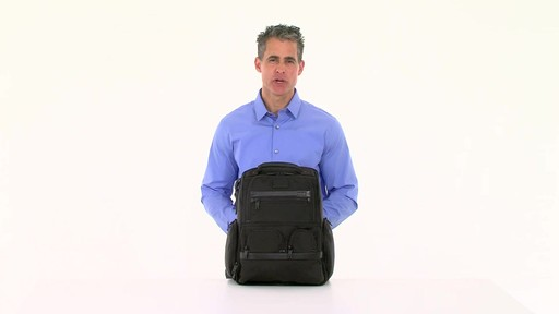 Tumi Alpha 2 Compact Laptop Brief Pack & Reg. - eBags.com - image 9 from the video