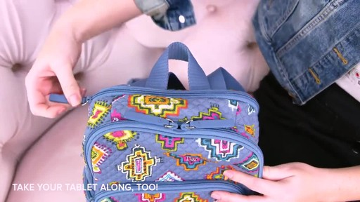 Vera Bradley Hadley Backpack - image 7 from the video