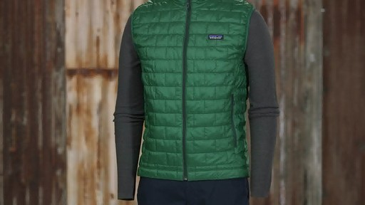 Patagonia Mens Nano Puff Vest - on eBags.com - image 3 from the video