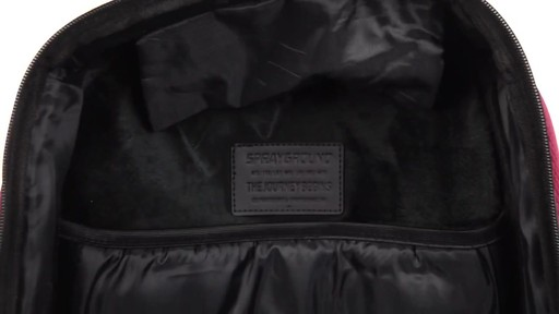 Sprayground X Camo Mesh Cut And Sew Backpack - Shop eBags.com - image 9 from the video