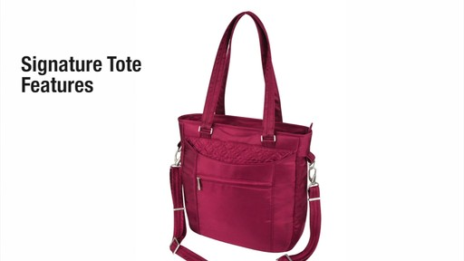 Travelon Anti-Theft Signature Tote - eBags.com - image 2 from the video