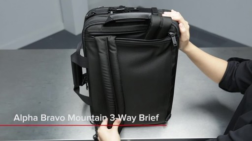 Tumi Alpha Bravo Mountain Three Way Brief - image 1 from the video