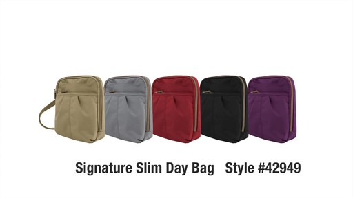 Travelon Anti-theft Signature Slim Day Bag - Shop eBags.com - image 10 from the video