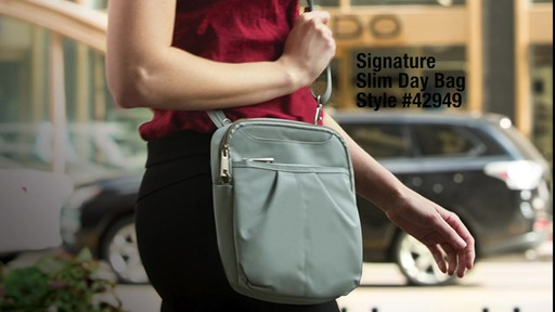 Travelon Anti-theft Signature Slim Day Bag - Shop eBags.com - image 2 from the video