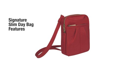 Travelon Anti-theft Signature Slim Day Bag - Shop eBags.com - image 3 from the video