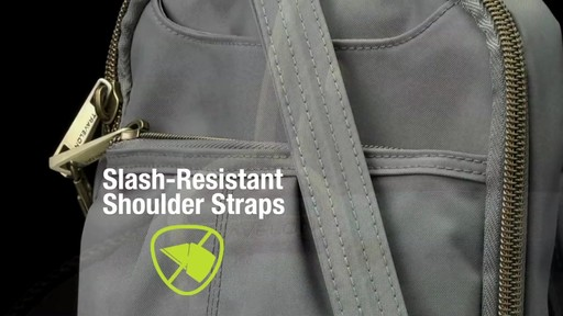 Travelon Anti-theft Signature Slim Day Bag - Shop eBags.com - image 7 from the video