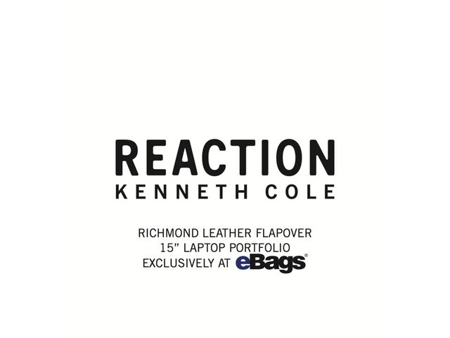 Kenneth Cole Reaction Richmond Leather Flapover 15