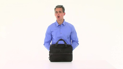 Tumi Alpha 2 Small Screen Expandable Laptop Brief - image 1 from the video