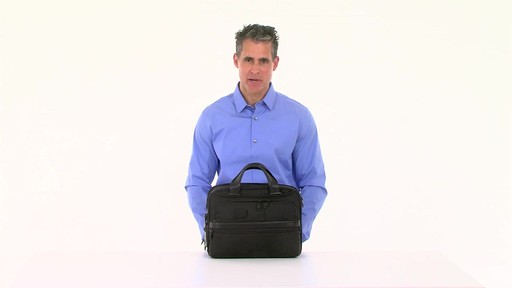 Tumi Alpha 2 Small Screen Expandable Laptop Brief - image 10 from the video