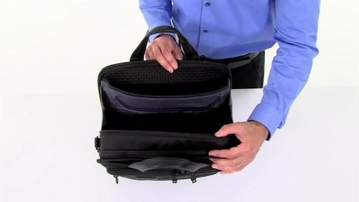 Tumi Alpha 2 Small Screen Expandable Laptop Brief - image 2 from the video