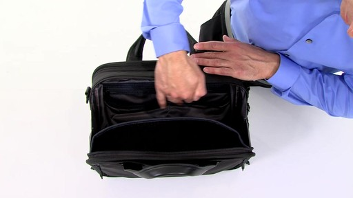 Tumi Alpha 2 Small Screen Expandable Laptop Brief - image 3 from the video