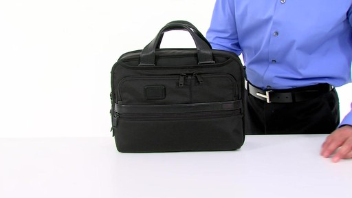 Tumi Alpha 2 Small Screen Expandable Laptop Brief - image 4 from the video