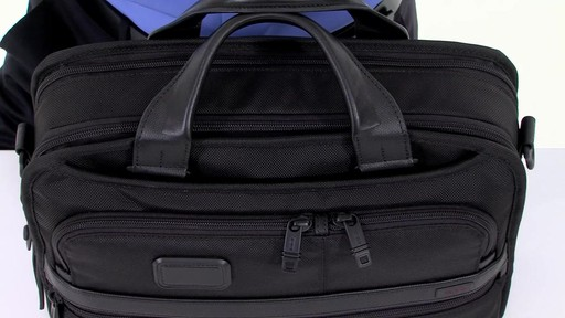 Tumi Alpha 2 Small Screen Expandable Laptop Brief - image 5 from the video