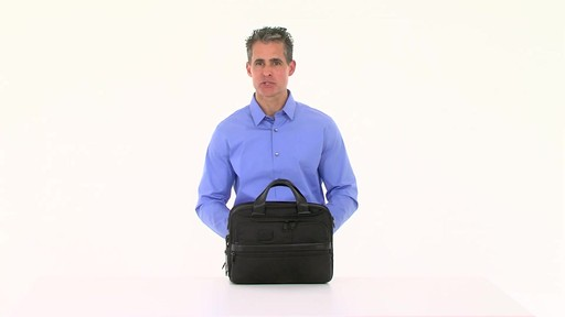 Tumi Alpha 2 Small Screen Expandable Laptop Brief - image 6 from the video