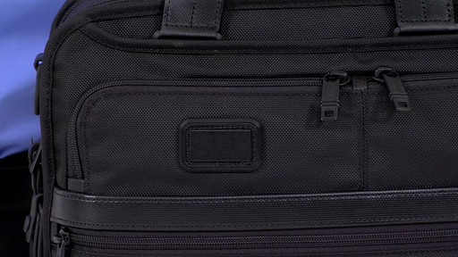 Tumi Alpha 2 Small Screen Expandable Laptop Brief - image 7 from the video