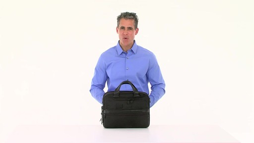 Tumi Alpha 2 Small Screen Expandable Laptop Brief - image 9 from the video