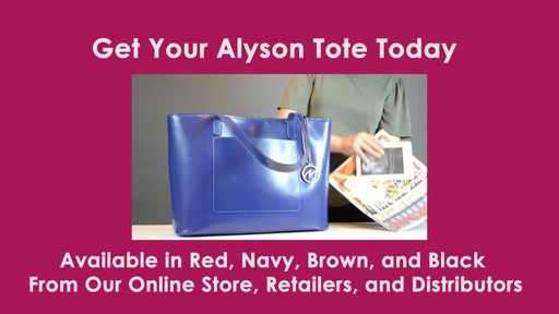 McKlein USA Alyson Tote - image 10 from the video