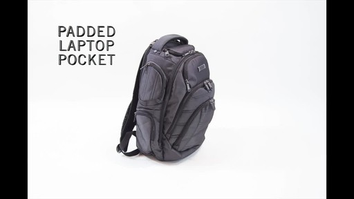 Kenneth Cole Reaction Pack of All Trades Laptop Backpack - image 9 from the video