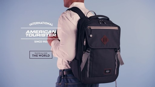 American Tourister Dig Dug Laptop Backpack - image 10 from the video