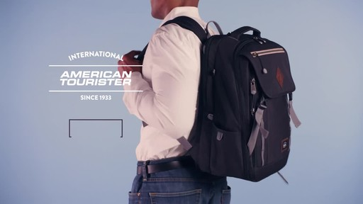 American Tourister Dig Dug Laptop Backpack - image 9 from the video