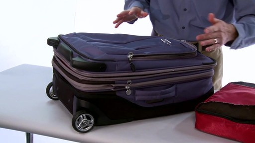More space. eBags TLS Expandable 22 - image 5 from the video