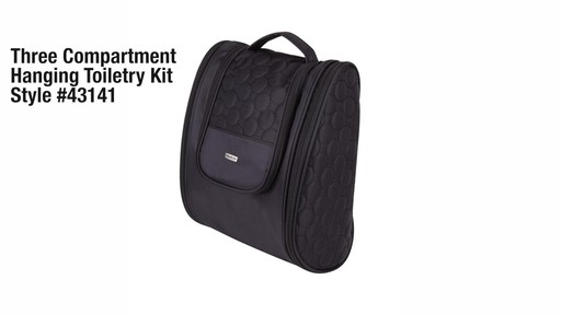 3 Compartment Hanging Toiletry Kit - eBags.com - image 1 from the video