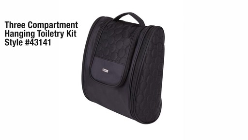 3 Compartment Hanging Toiletry Kit - eBags.com - image 10 from the video