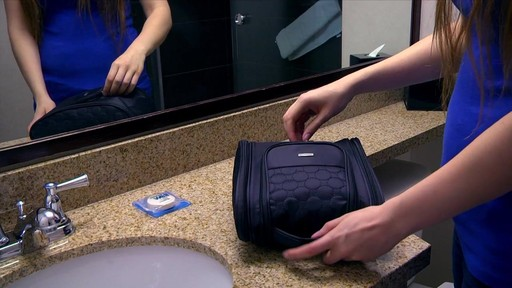 3 Compartment Hanging Toiletry Kit - eBags.com - image 4 from the video