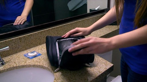 3 Compartment Hanging Toiletry Kit - eBags.com - image 5 from the video