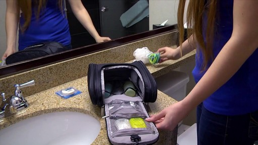 3 Compartment Hanging Toiletry Kit - eBags.com - image 6 from the video