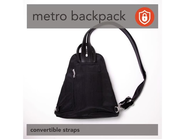 baggallini Metro Backpack with RFID Phone Wristlet - image 2 from the video