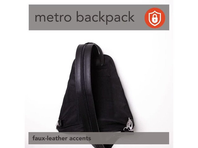 baggallini Metro Backpack with RFID Phone Wristlet - image 3 from the video